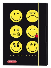 Opbergmap A3 Smiley World black (0411)