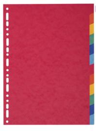 Tabbladen extra dik 12-delig karton
