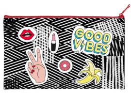Etui groot plat good vibes (9586)