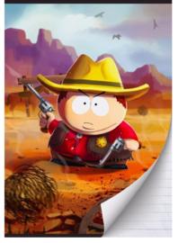 "South Park A4 schrift gelinieerd ""cowboy"""