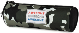 Awesome boy's etui rond camo (8282)