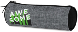 Awesome boy's etui rond grey/green (8275)