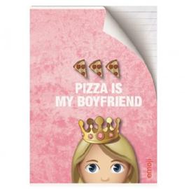 Emoji Girls schrift roze A4 gelinieerd