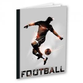 2x Voetbal wiskundeschrift A4 Football