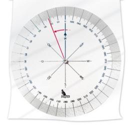 Hoekmeter gradenboog kompasroos verdraaibaar (4748)