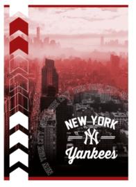 "New York Yankees schrift A4 ruitjes ""city rood"" (0964)"