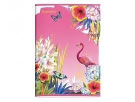 Accessorize Sweet A4 flamingo schrift gelinieerd (2554)