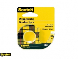 Scotch tape dubbelzijdig 12mm x 6,3mtr (8546)