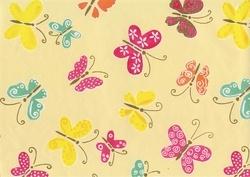 Geel vlinder kaftpapier