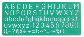 Linex lettersjabloon 10mm (1000)