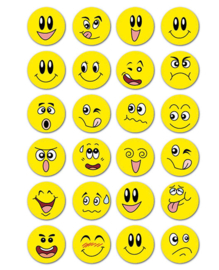 3D smiley stickers
