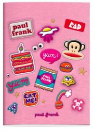 Paul Frank A4 geruit schrift roze
