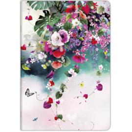 Chacha luxe A4 schrift gelinieerd bloemen (3614)