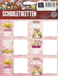 Emoji girls etiketten 2 (7509)