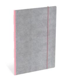 Quattro Colori elastomap A4 roze/grijs (5812)