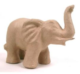 Kraft olifant middel papier maché (1086)