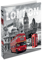 "25mm PP opbergmap 2 rings ""London"""
