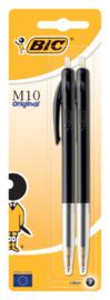 BIC M10 balpennen zwart 2x (8057)