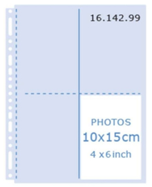Henzo 16.142.99 fototassen 10x15 helder