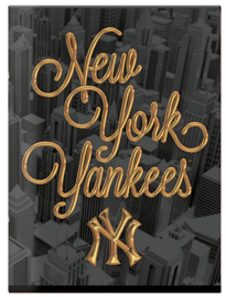 New York Yankees lijntjes schrift A4 goud/zwart (2028)