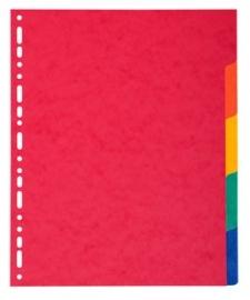 Tabbladen extra dik 5-delig karton