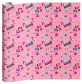 Paul Frank girls kaftpapier roze (6929)