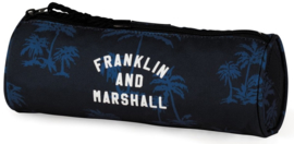 Franklin & Marshall boy's  etui rond blauw (9258)