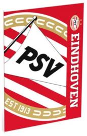 PSV schrift A4 gelinieerd rood/wit