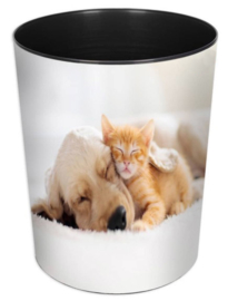 "Prullenmand ""kat en hond"" (6677)"
