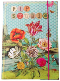 Pip Studio elastomap A4 bloemen (4853)