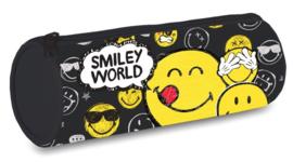 Smileyworld etui zwart rond (tekstballon) (5759)