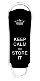 USB 2.0 stick 16GB keep calm zwart (7891)