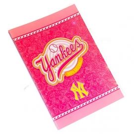 New York Yankees A4 schrift 10mm geruit roze