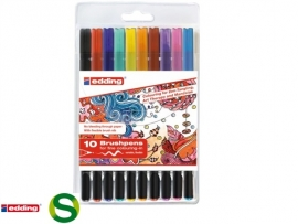 1340 Brushpen assortiment 10-delig