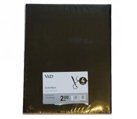 4x A5 schriften zwart geruit 10mm (3141)