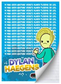 """Dylan Haegens team A4 schrift lijn """"ik mag geen"""" (5222)"""