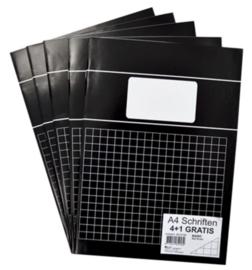 A4 schrift 10mm geruit zwart kantlijn VOORDEELPAK