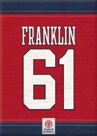Franklin Marshall A4 shrift gelinieerd (9729)