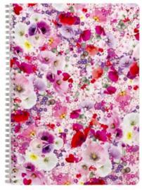 """Luxe A4 spiraalblok gelinieerd """"bloemen"""" (3737)"""