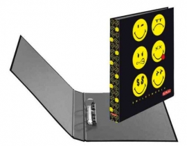 Smiley World black ringband 2-rings (7177)