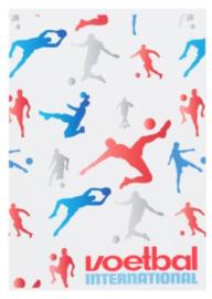 Voetbal international A4 schrift geruit