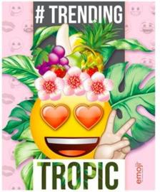 Emoji girls schriften A5 gelinieerd tropic (0982)