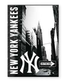 New York Yankees schrift A4 ruitjes (5201)