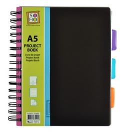 Projectboek / collegeblok A5 antraciet 200 vel (4016)