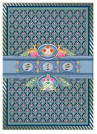 Pip Studio A4 schrift gelinieerd blauw (2301)