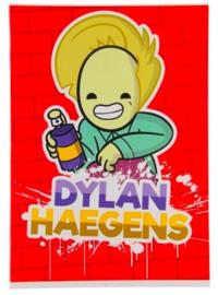 """Dylan Haegens team A4 schrift geruit """"spuitbus"""" (5826)"""