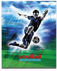 Voetbal international ringband 23r blauw (0391-i1)