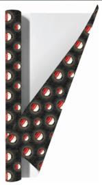 Feyenoord kaftpapier antraciet (7967)