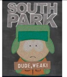 South Park A5 schriften zwart