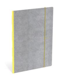 Quattro Colori elastomap A4 geel/grijs (5829)